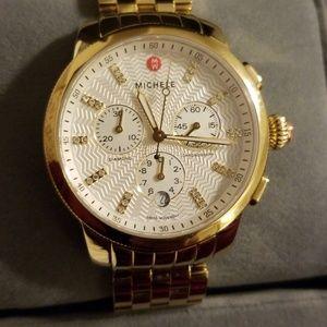 Michele Gold and Diamond watch